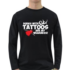 Dudes with Tattoos Dark Colored Long Sleeve Mens'' T-shirt