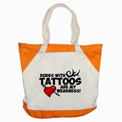 Dudes with Tattoos Snap Tote Bag