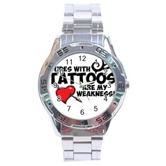 Dudes with Tattoos Stainless Steel Analogue Watch (Round)