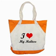 I Love My Maltese Snap Tote Bag
