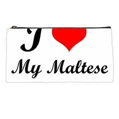 I Love My Maltese Pencil Case