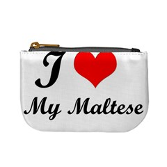 I Love My Maltese Coin Change Purse