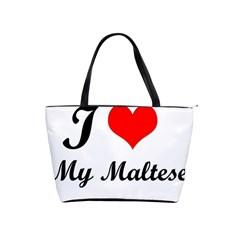 I Love My Maltese Large Shoulder Bag