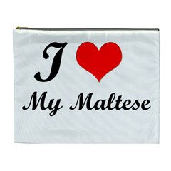 I Love My Maltese Extra Large Makeup Purse