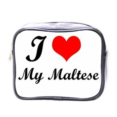 I Love My Maltese Single Sided Cosmetic Case