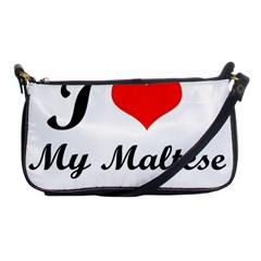 I Love My Maltese Evening Bag