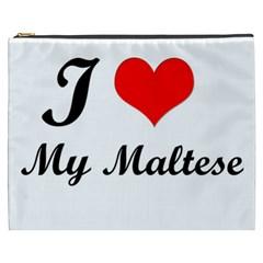 I Love My Maltese Cosmetic Bag (XXXL)