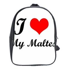 I Love My Maltese School Bag (xl)
