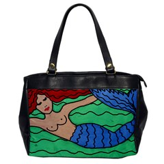 Red Haired Mermaid Leather Like Handbag