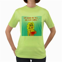 Boobs Like These Green Womens  T-shirt