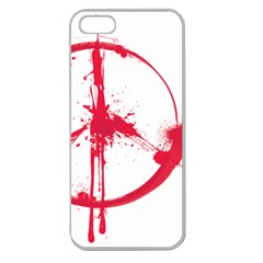 Peace 03 Apple Seamless iPhone 5 Case (Clear)