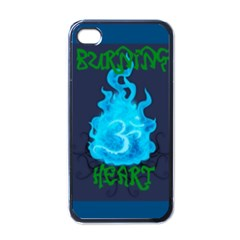 Burning Heart Black Apple iPhone 4 Case