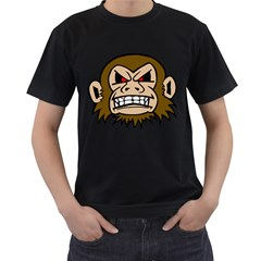 Punk Monkey Black Mens'' T-shirt