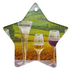 vine Ceramic Ornament (Star)