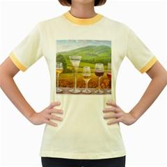 Vine Colored Ringer Womens  T Shirt