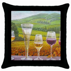 vine Black Throw Pillow Case
