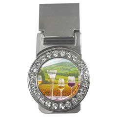 vine Money Clip with Gemstones (Round)