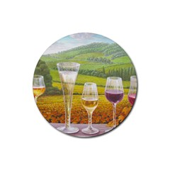 Vine Rubber Drinks Coaster (round)