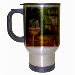 vine Brushed Chrome Travel Mug