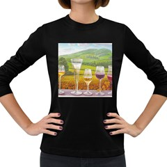 vine Dark Colored Long Sleeve Womens'' T-shirt