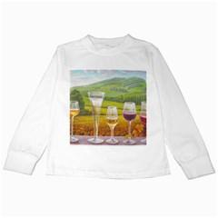 vine White Long Sleeve Kids'' T-shirt