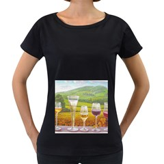 vine Black Oversized Womens'' T-shirt