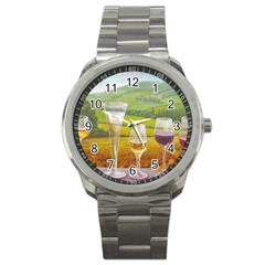 Vine Stainless Steel Sports Watch (round)