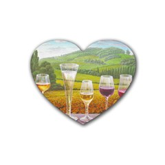 Vine 4 Pack Rubber Drinks Coaster (heart)