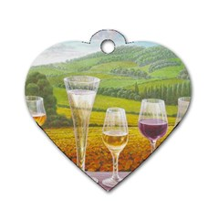 vine Single-sided Dog Tag (Heart)