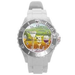 Vine Round Plastic Sport Watch Large
