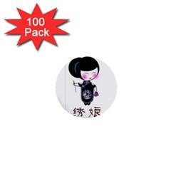Xiu 100 Pack Mini Button (round)