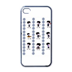 12 Girls Black Apple Iphone 4 Case