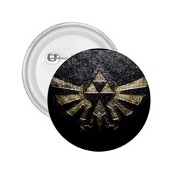 Triforce Emboss Regular Button (Round)