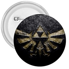Triforce Emboss Large Button (round)