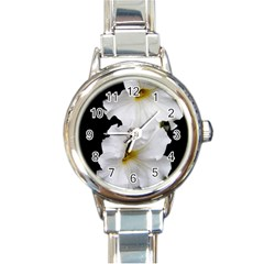White Peonies   Classic Elegant Ladies Watch (Round)