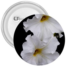 White Peonies   Large Button (Round)