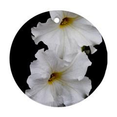 White Peonies   Ceramic Ornament (round)