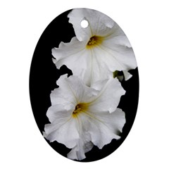 White Peonies   Ceramic Ornament (oval)