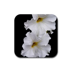 White Peonies   Rubber Drinks Coaster (square)