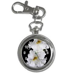 White Peonies   Key Chain & Watch