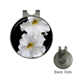 White Peonies   Hat Clip With Golf Ball Marker
