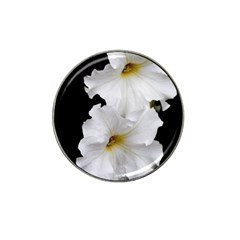 White Peonies   Golf Ball Marker (for Hat Clip)