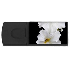 White Peonies   4Gb USB Flash Drive (Rectangle)