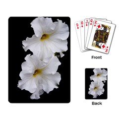 White Peonies   Standard Playing Cards