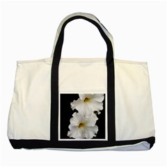 White Peonies   Two Toned Tote Bag