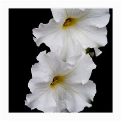 White Peonies   Single-sided Large Glasses Cleaning Cloth