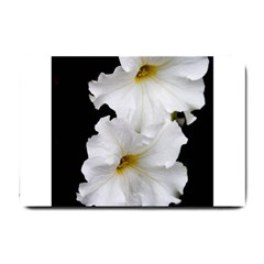 White Peonies   Small Door Mat