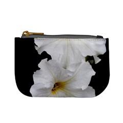 White Peonies   Coin Change Purse