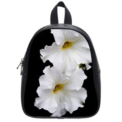 White Peonies   Small School Backpack