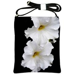 White Peonies   Cross Shoulder Sling Bag